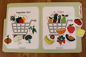 Fruit or Vegetable Folder Game