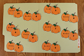 Pumpkin Addition Folder Game