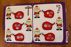 Santa's Cents Folder Game