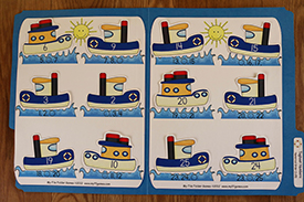 Tugboat Numbers Folder Game