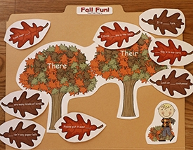Fall Fun! There, Their, They're Sort
