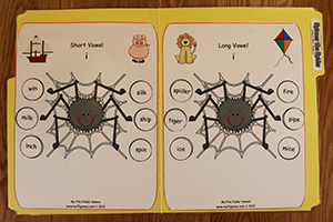 Spinner the Spider - Long and Short Vowel I