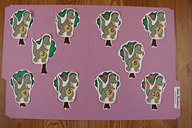 Dinosaur Numbers Folder Game