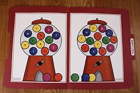 Gumball Letters Folder Game