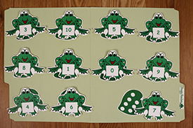 Froggy Numbers Folder Game