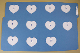 Heart Numbers Folder Game