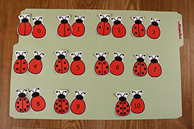 Ladybug Numbers Folder Game
