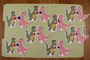 Dinosaur Shapes Folder Game