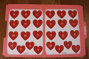 Heart Letters Folder Game