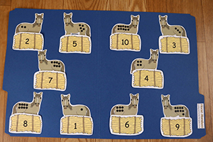 Horse Numbers Folder Game